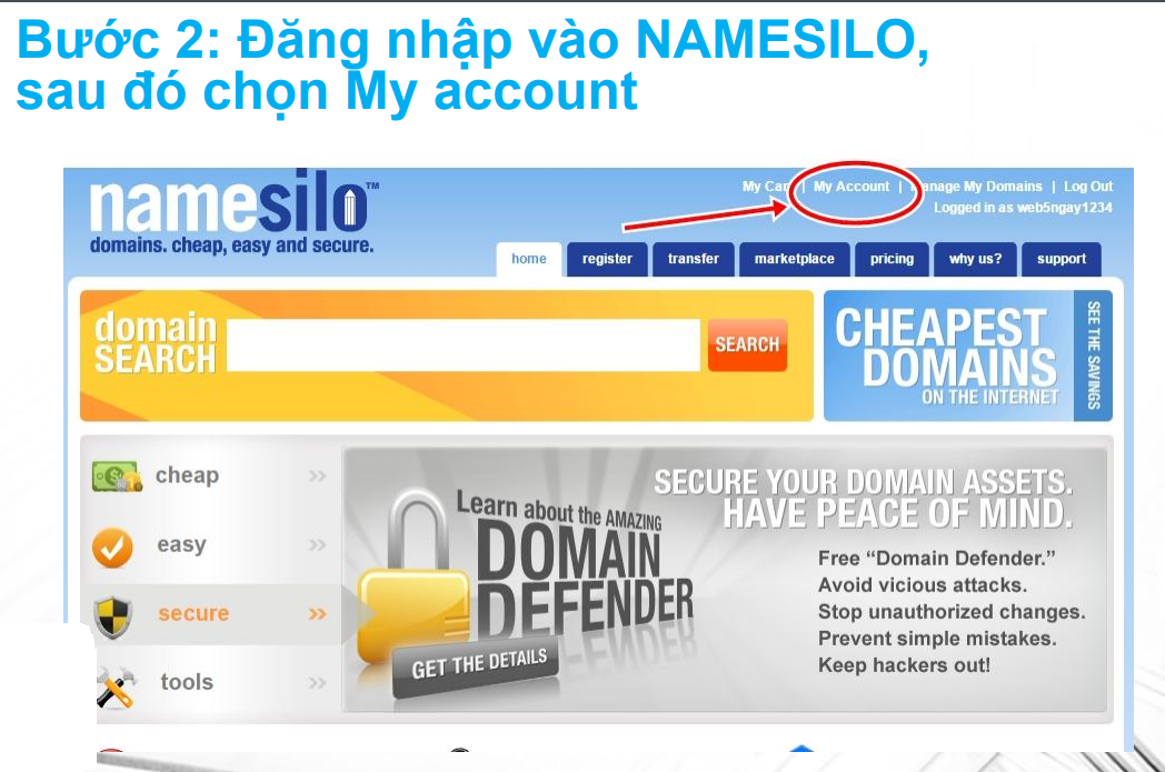 Hướng Dẫn Cài Tên Miền NAMESILO vào Blogger 2021