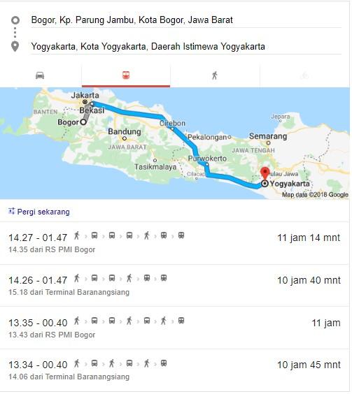 Jadwal Keberangkatan Damri Bogor ke Jogja