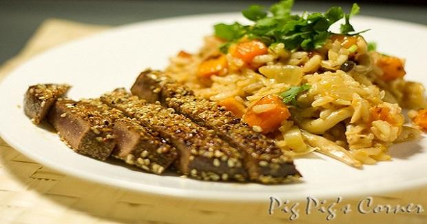 Seared Tuna Steak With Sesame Crust Recipe