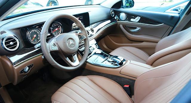 Nội thất Mercedes E250 2017 được thiết kế thể thao nhưng không kém phần sang trọng và đẳng cấp