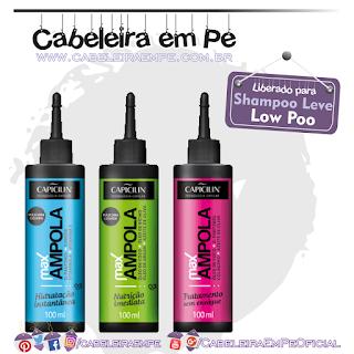 Max Ampolas - Capicilin (Low Poo) - Hidratação, Nutrição e Sem Enxágue
