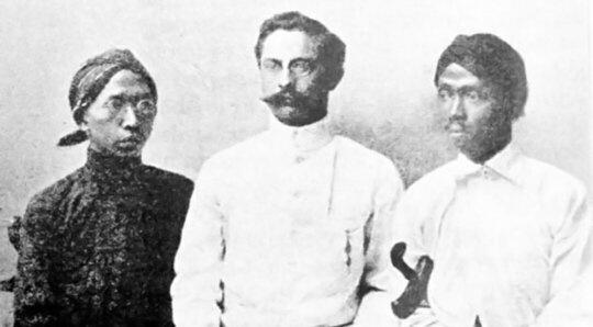 Ki Hadjar Dewantoro, Ernest Douwes Dekker, dan Cipto Mangunkusumo