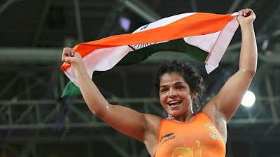 Indian Wrestler Sakshi Malik at Rio Olympics 2016