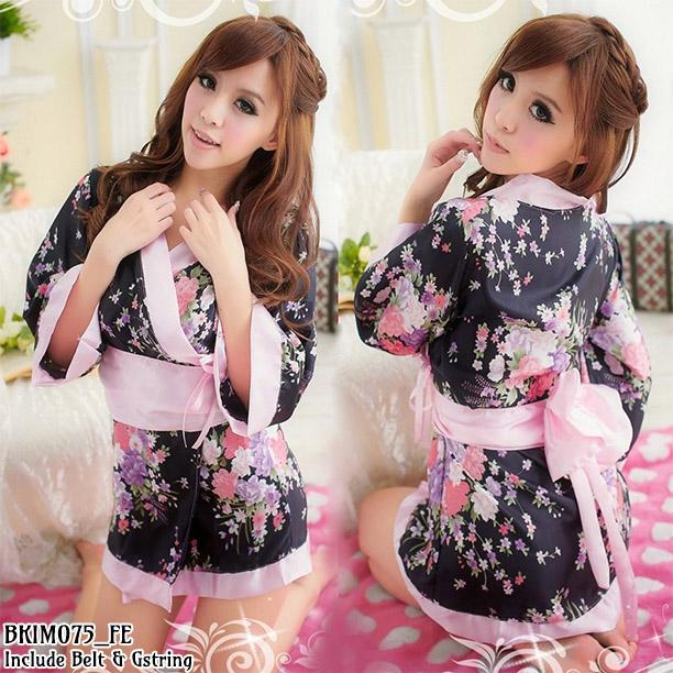Jual Lingerie Seksi Kimono Hitam (BKIM075) Produk Import 100% Berkualitas Terbaik Nyaman dipakai dengan Harga Grosir dan Ecer Termurah.