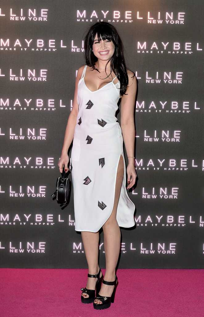 Daisy Lowe is saucy in a slinky dress at the Maybelline Bring on the Night party in London