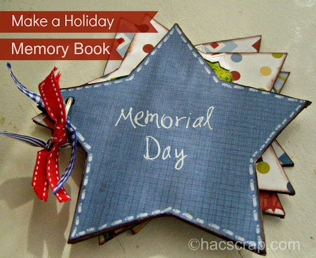 Memorial Day Mini Album - red, white and blue