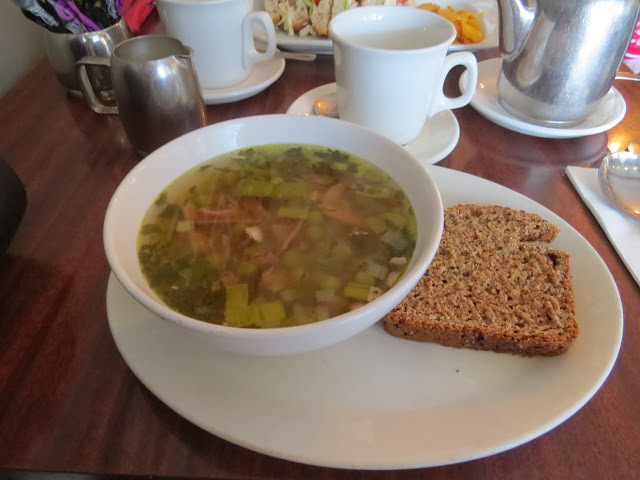 Pea soup with ham at the Nuthouse Bistro in Killester