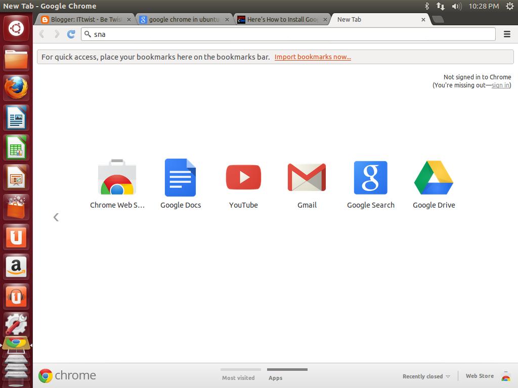 sudo apt-get installer chrome ubuntu