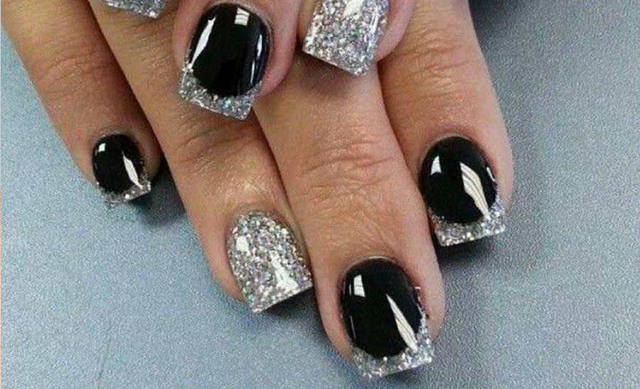 Black Nails Designs For Ladies.