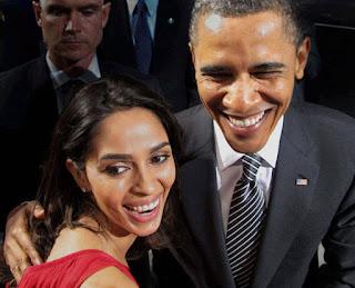 mallika with obama