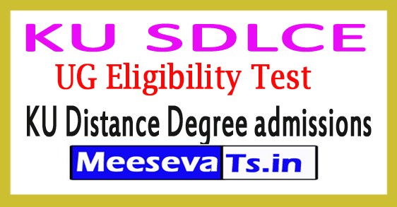KU SDLCE UG Eligibility Test 2017