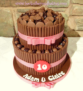 2 tier chocolate cigarello cake