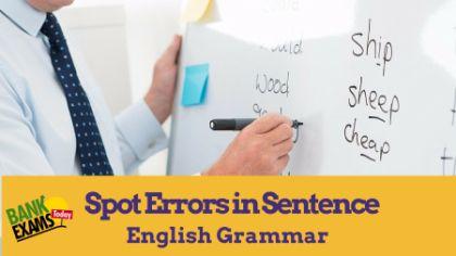 spot errors