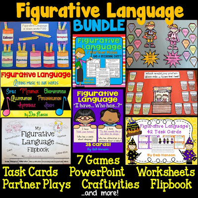 connection of figurative language in the This free figurative language product includes two weeks of quick warm-up.