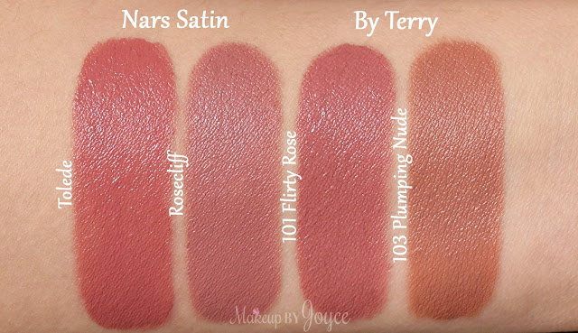 Nars Lipstick  Rosecliff Tolede Swatches