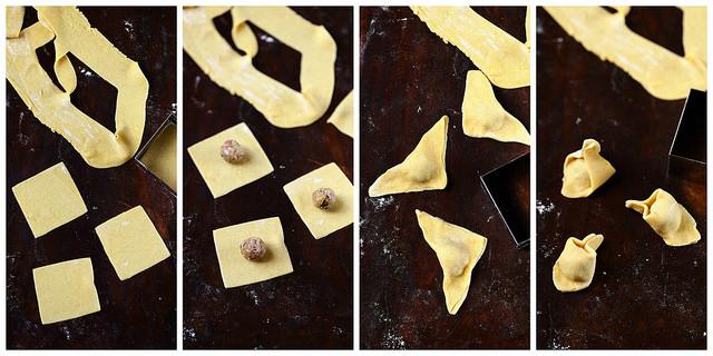 Comment réaliser les ravioli pas à pas. Tortellini