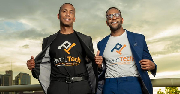 Quawn Clark and Joshua Mundy, founders of Pivot Tech
