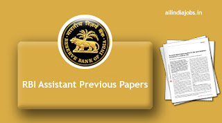 RBI Assistant Previous Papers