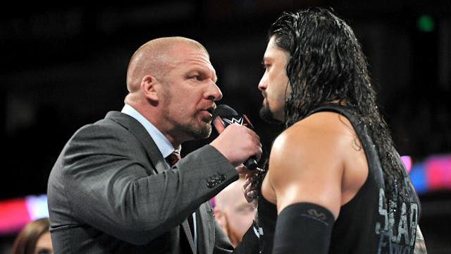 Triple H vs Roman Reigns WWE Wrestlemania 2016 WWE World Heavyweight Champion Match