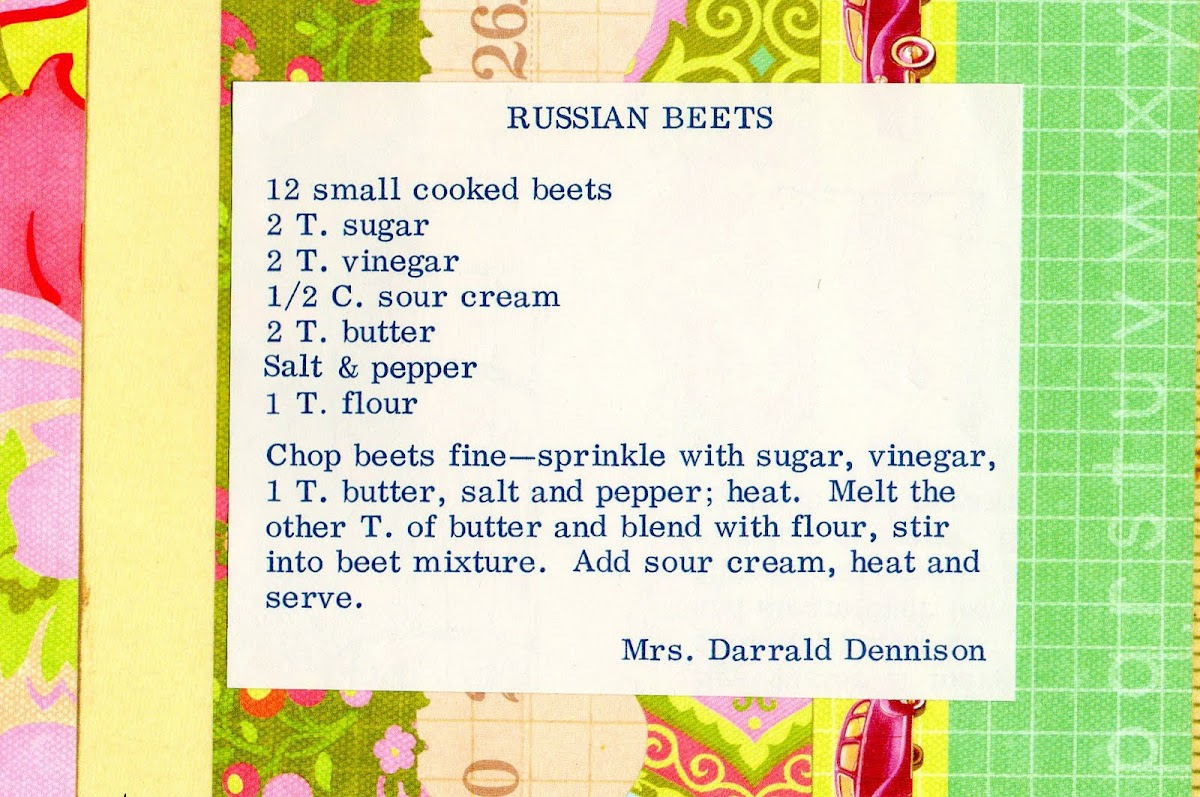 Russian Beets (quick recipe)