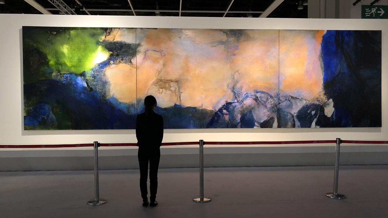 31e98686cd5e95 Chinese Artist Zao Wou-Ki Painting 'Juin-Octobre 1985' Sells for $65  Million Dollars