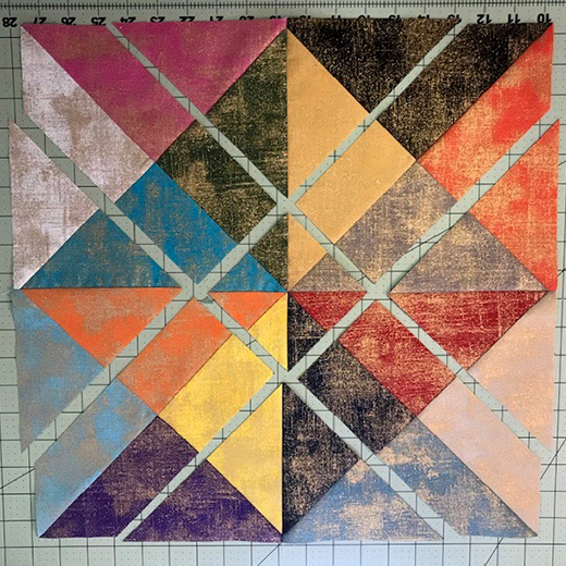 Bajillion Half Square Triangles Quilt Free Tutorial designed by Sarah Craig of Confessions of a fabric addict