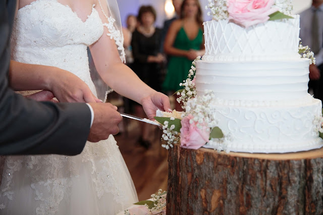 cutting cake at Noah's Event Venue in Auburn Hills Michigan
