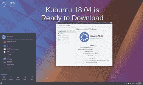 Kubuntu 18.04 LTS is ready to download