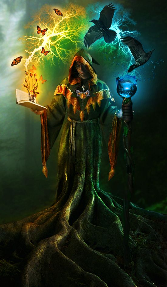 Lead Manager - Powerful Earth wizard with a book on the hands