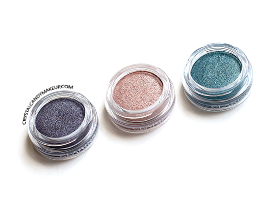 Clarins Ombre Iridescente Eyeshadow 03 Aquatic Grey 01 Aquatic Rose 02 Aquatic Green Review