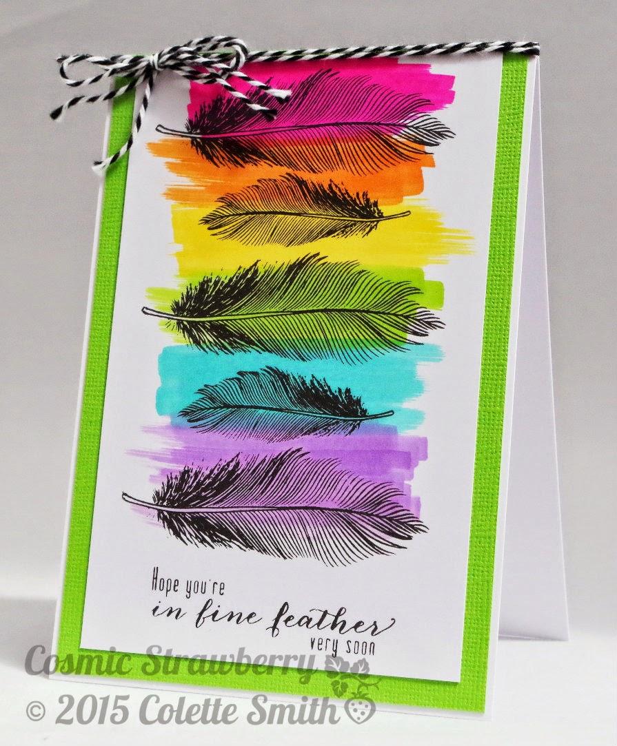 открытка с перьями съемки камер