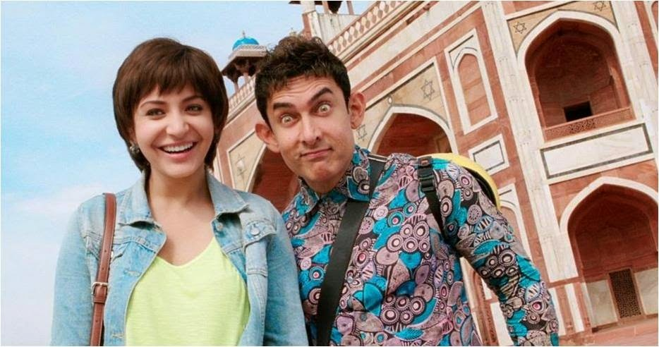 Jagat Janani Anushka Sharma and Peekay Aamir Khan in Pk movie