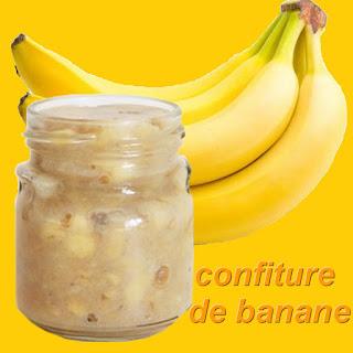 préparation recette confiture de bananes
