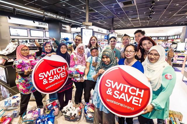 Switch & Save Dengan Watsons Malaysia Sangat Menjimatkan.