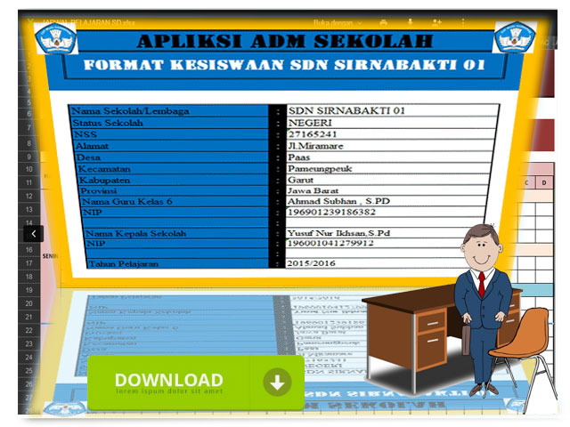 Administrasi Aplikasi Siswa Berbasis Microsoft Excel