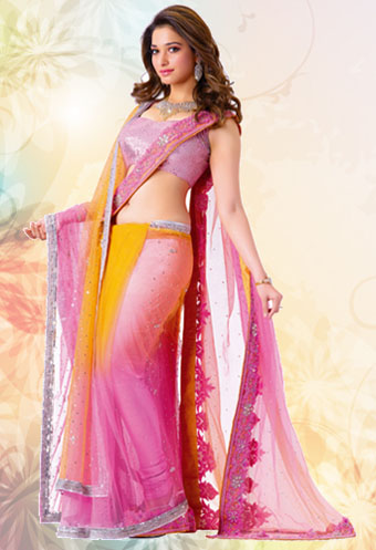 Look How Hot In The 30 Images Of Tamannah Bhatia's Saree Pictures