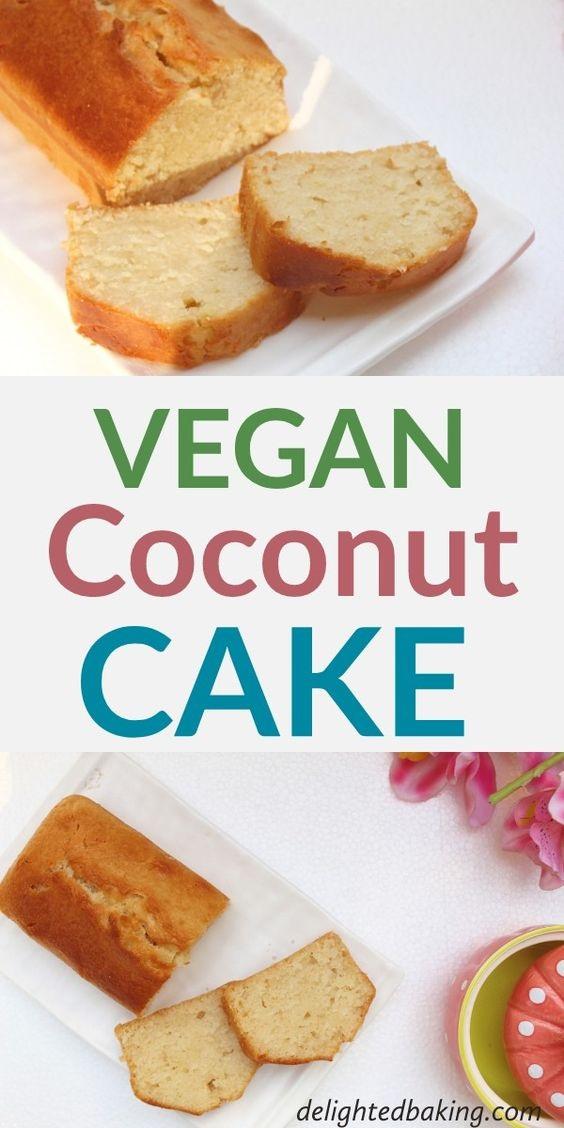 Vegan Coconut Cake (Egg Free & Dairy Free Coconut Cake)