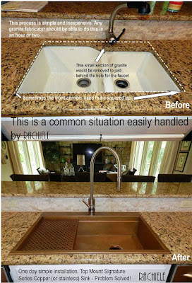Copper sinks replacing your old under mount kitchen sink for Rachiele sink complaints