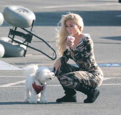 Luxiboo on the set of a movie in Malibu