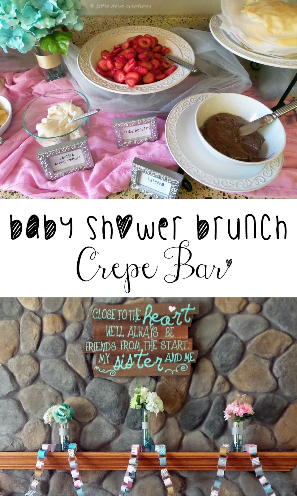 Baby Shower Brunch Crepe Bar