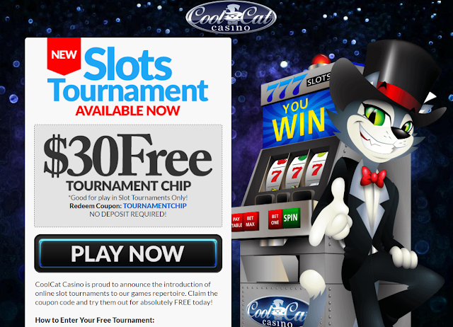 $30 Free Tournament Buy-in Token from Cool Cat Casino
