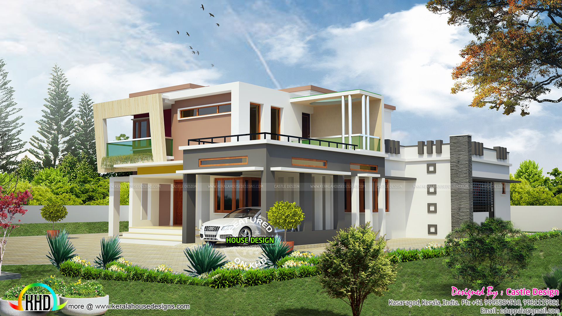 2813 sq ft 4 bhk modern home kerala home design and for 4 bhk home design