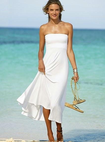 NewTrends: Long white summer dress