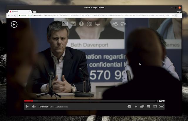 Netflix Google Chrome Linux