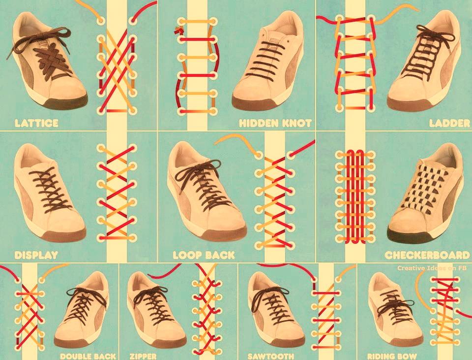 Schnürsenkel einfädeln – 8 Methoden Schuhe cool binden