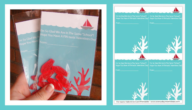 Printable fish valentine