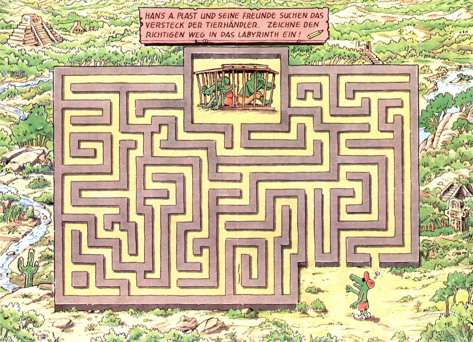 Markenwerbung, Kinderpflaster, Comic, Labyrinth, Grafik, Fred Fuchs, Autor, Robert Welz, Texter, Weihnachten, Drogeriemarkt