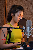 Actress Catherine Tresa Pos during Self Dubbing for Gautham Nanda Movie  0058.JPG