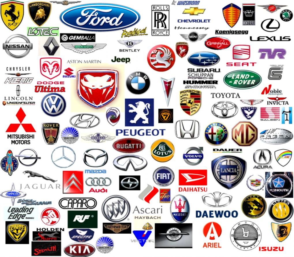 List Of Car Logos A Z Collection Manufacturers By