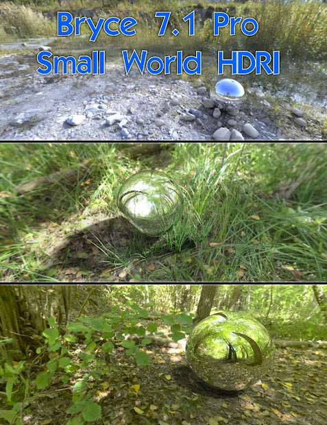 Daz Studio 3 Free 3d - Bryce 7.1 Pro Small World Hdri
